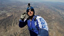 Skydiver leaps from 25,000ft with no parachute live on TV