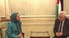 عباس أول رئيس عربي يستقبل زعيمة معارضة إيران
