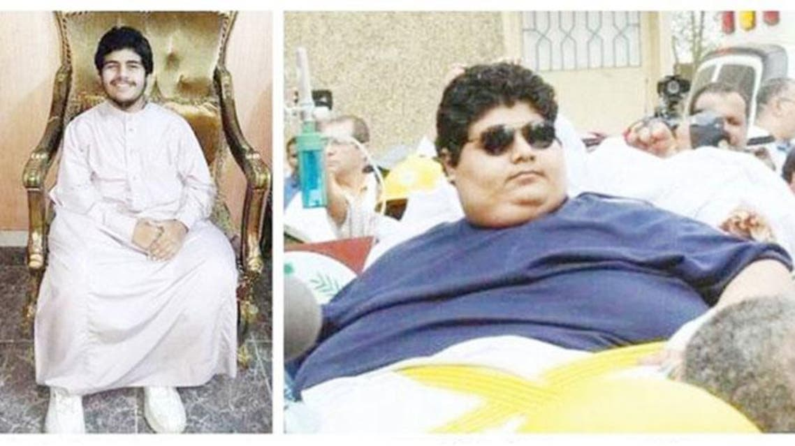 After weight loss (L). Khalid Al-Shaeri — once dubbed the world's heaviest teenager — before weight loss. SG
