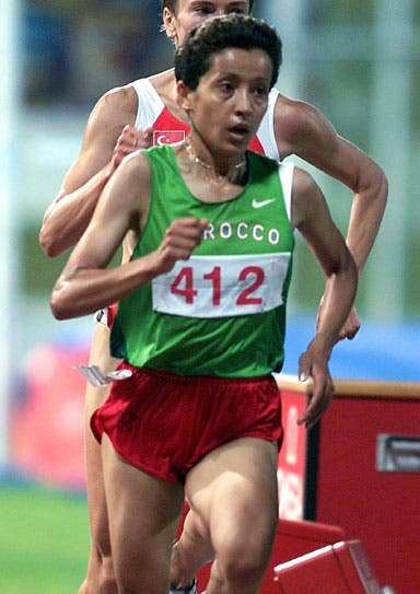 Asmae Leghzaoui is a middle-distance Olympian Moroccan runner who won gold at the 2001 Mediterranean Games during the 10,000m run.(middle-east-online)
