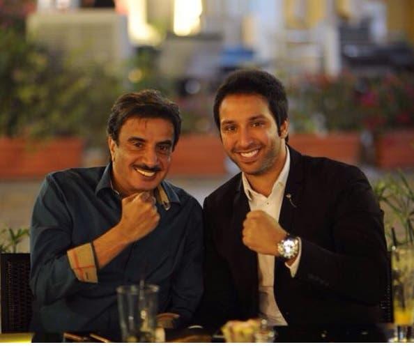 مع الفنان حسين المنصور