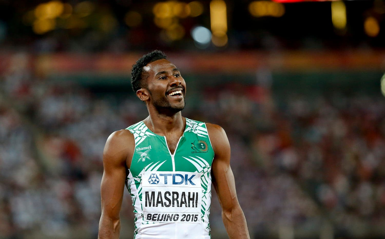 Yousef Ahmed Masrahi of Saudi Arabia competes in the men's 400m event during the 15th IAAF World Championships at the National Stadium in Beijing, China August 24, 2015. REUTERS