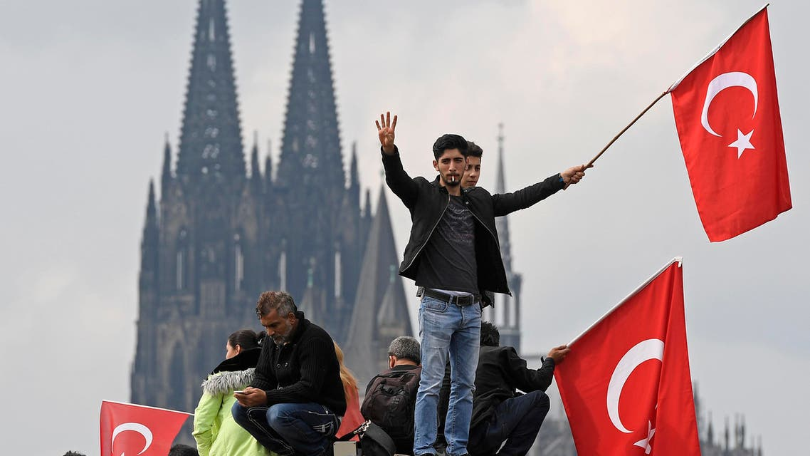 Turkish protestors in Cologne, Germany