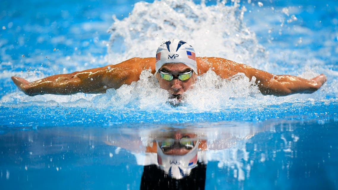 Michael Phelps swims in the men's 100-meter butterfly final at the U.S. Olympic swimming trials, Saturday, July 2, 2016, in Omaha, Neb. Phelps won the race. (AP)