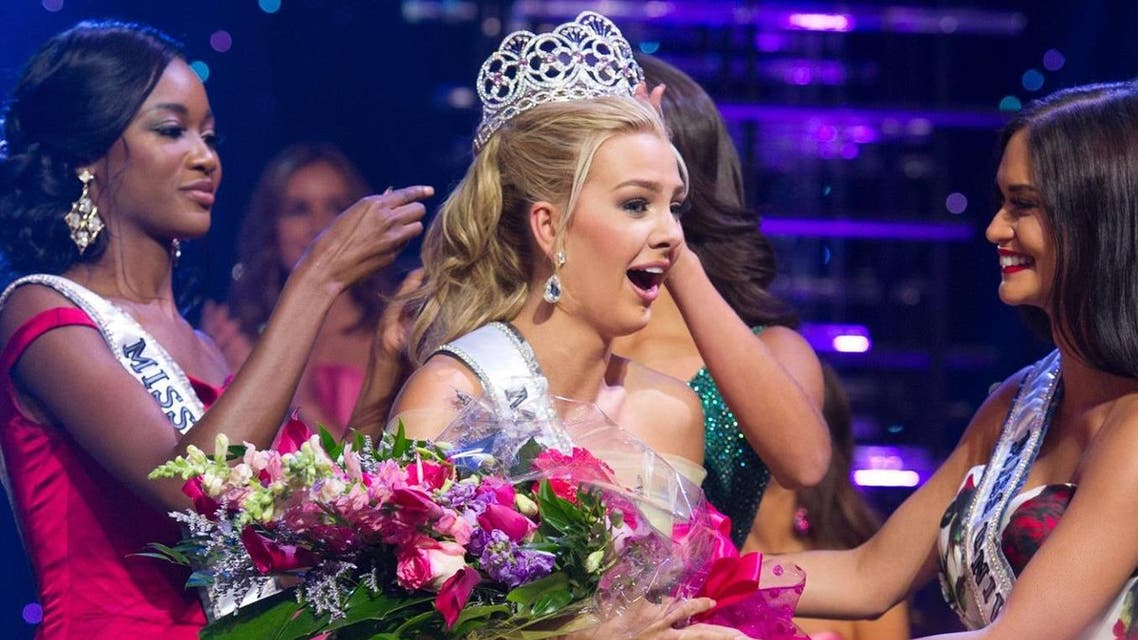 After she was crowned Saturday night in Las Vegas, social media users found tweets containing the N-word linked to an account with Karlie Hay's name. (Miss Teen USA)