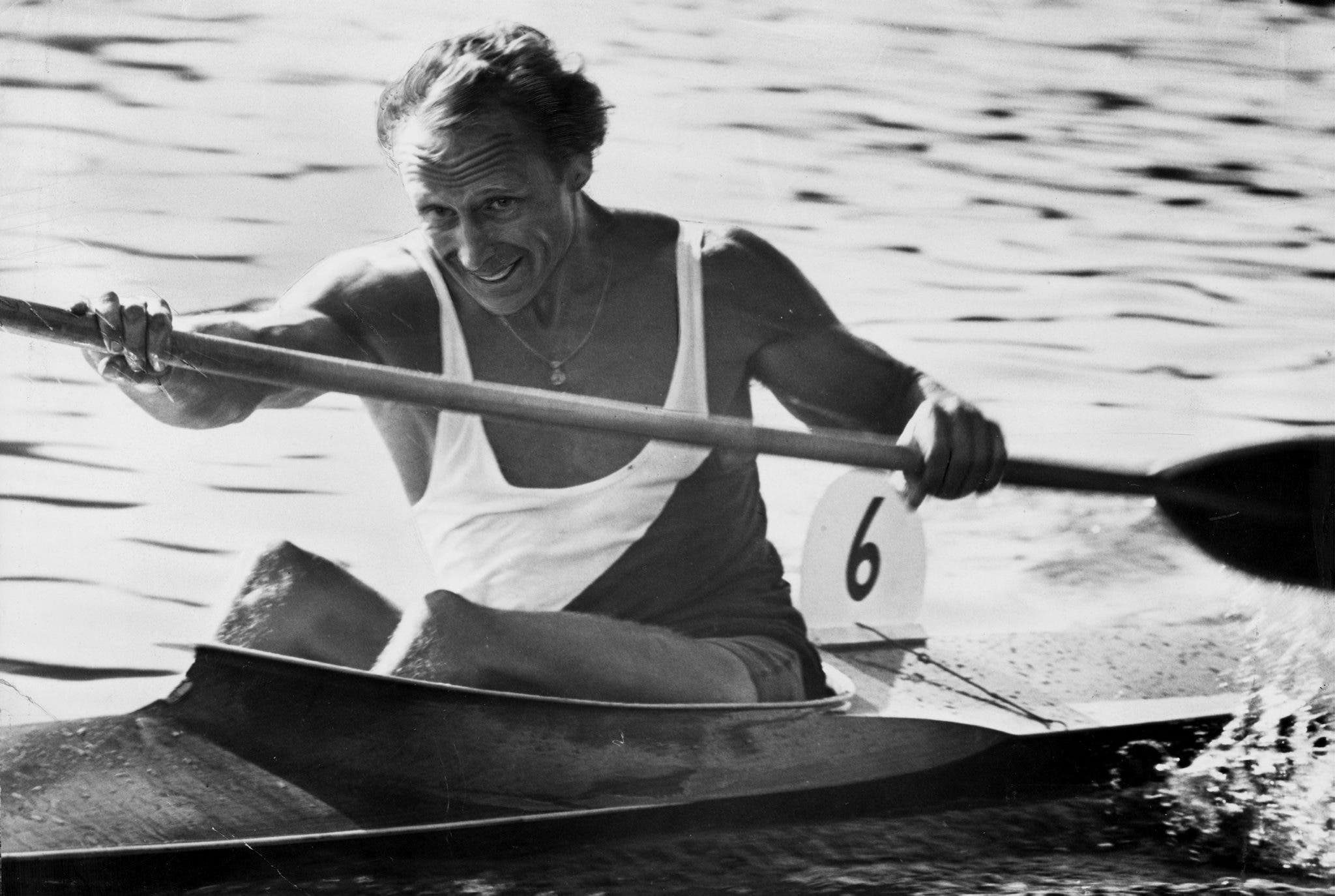 Gert Fredriksson, the most successful male canoeist in Olympic history with six gold medals in four games. (reuters)