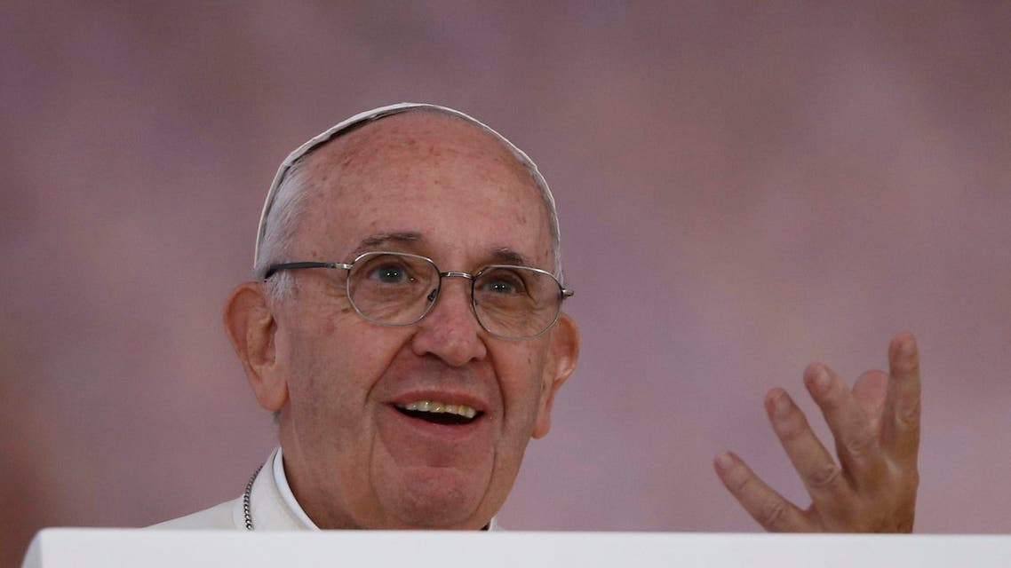 Pope Francis gestures as he addresses the faithful during World Youth Days at Blonia Park in Krakow, Poland July 28, 2016. REUTERS