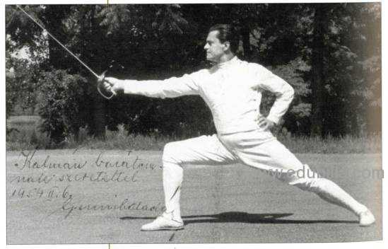 Alan Gerevich, Hungarian fencing champion. (AP)