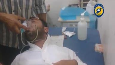 بعد أن أسقطت طائرة روسية.. غاز سام على قرية بإدلب