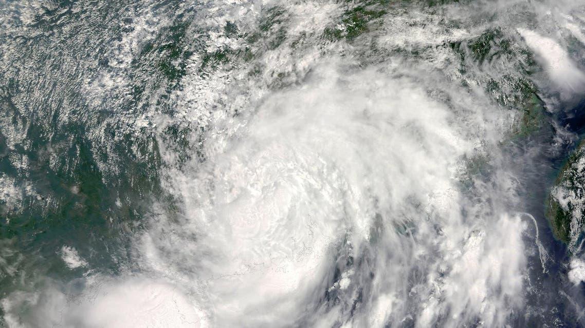 Satellite image shows Typhoon Nida over China (Photo: AFP)