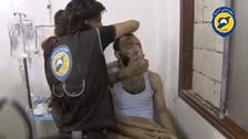 Rescuers say gas dropped on Syrian town where Russian copter downed