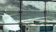 Video shows panic inside flaming Emirates jet