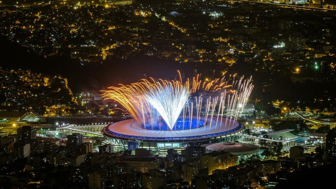 Fireworks are tested for the opening ceremony of the Rio 2016 Olympic Games at the Maracana stadium in Rio de Janeiro, Brazil (Photo: AFP)