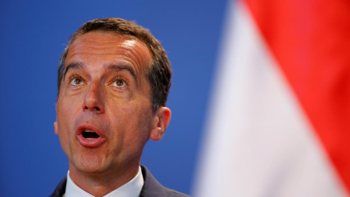 Austrian Chancellor Christian Kern attends a news conference in Budapest, Hungary, July 26, 2016. REUTERS/Lazslo Balogh