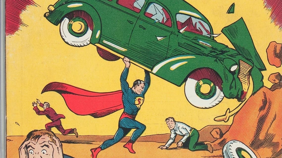 This undated image provided by Heritage Auctions shows a rare copy of Superman's 1938 comic-book, it's one of about 100 copies of the edition known to exist. (AP)