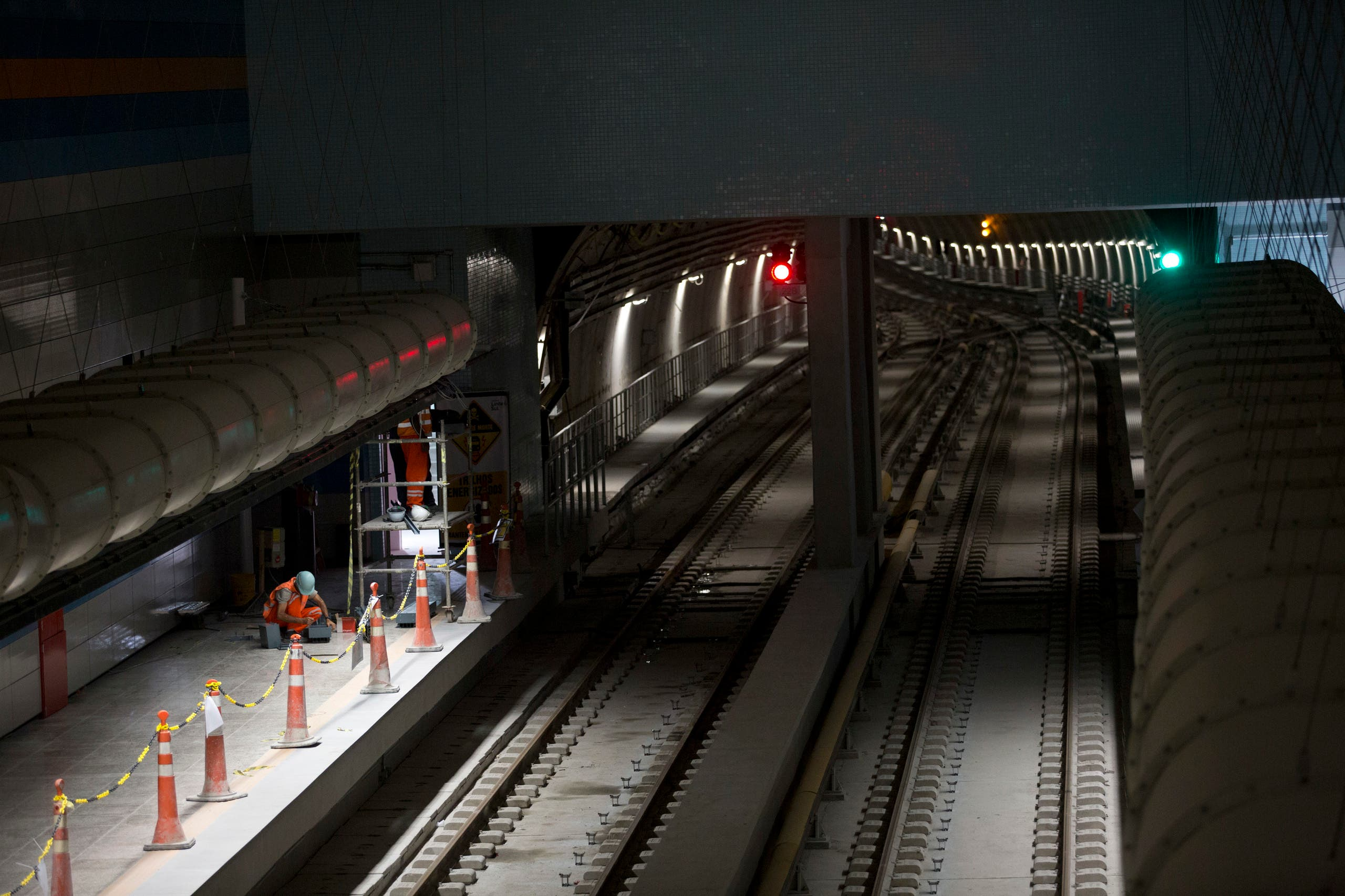 In this July 7, 2016 file photo, Odebrecht personnel work on the Line 4 of the subway that is under construction in Rio de Janeiro, Brazil. ap