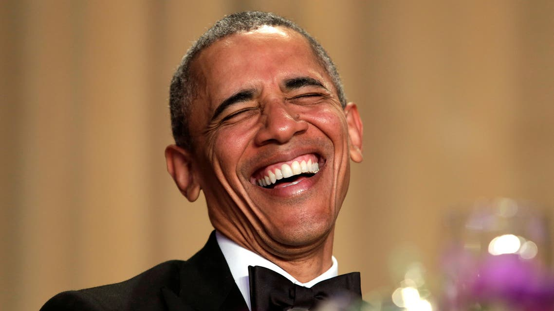 U.S. President Barack Obama laughs at the White House Correspondents' Association annual dinner in Washington, U.S., April 30, 2016. REUTERS