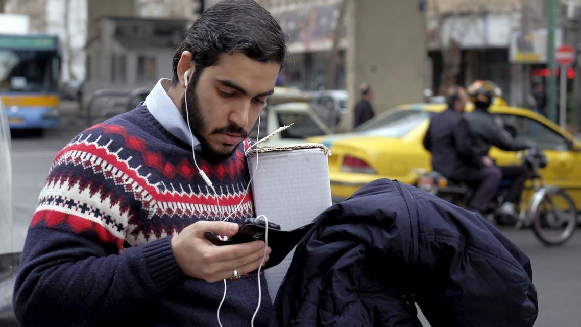 Man in Iran phone