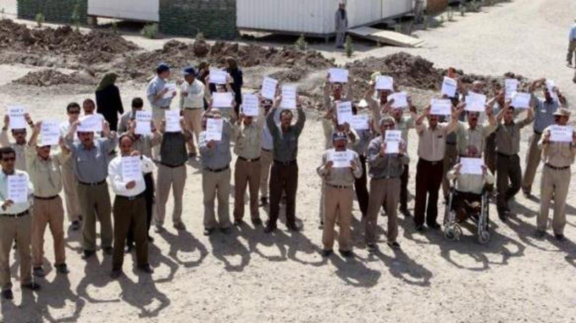 لاجئو ليبرتي يعتصمون احتجاجا على حصارهم من قبل السلطات العراقية