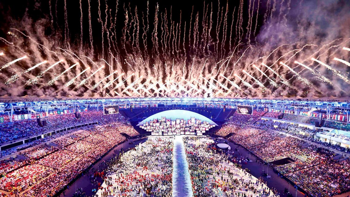 Fireworks explode during the opening ceremony. (Reuters)