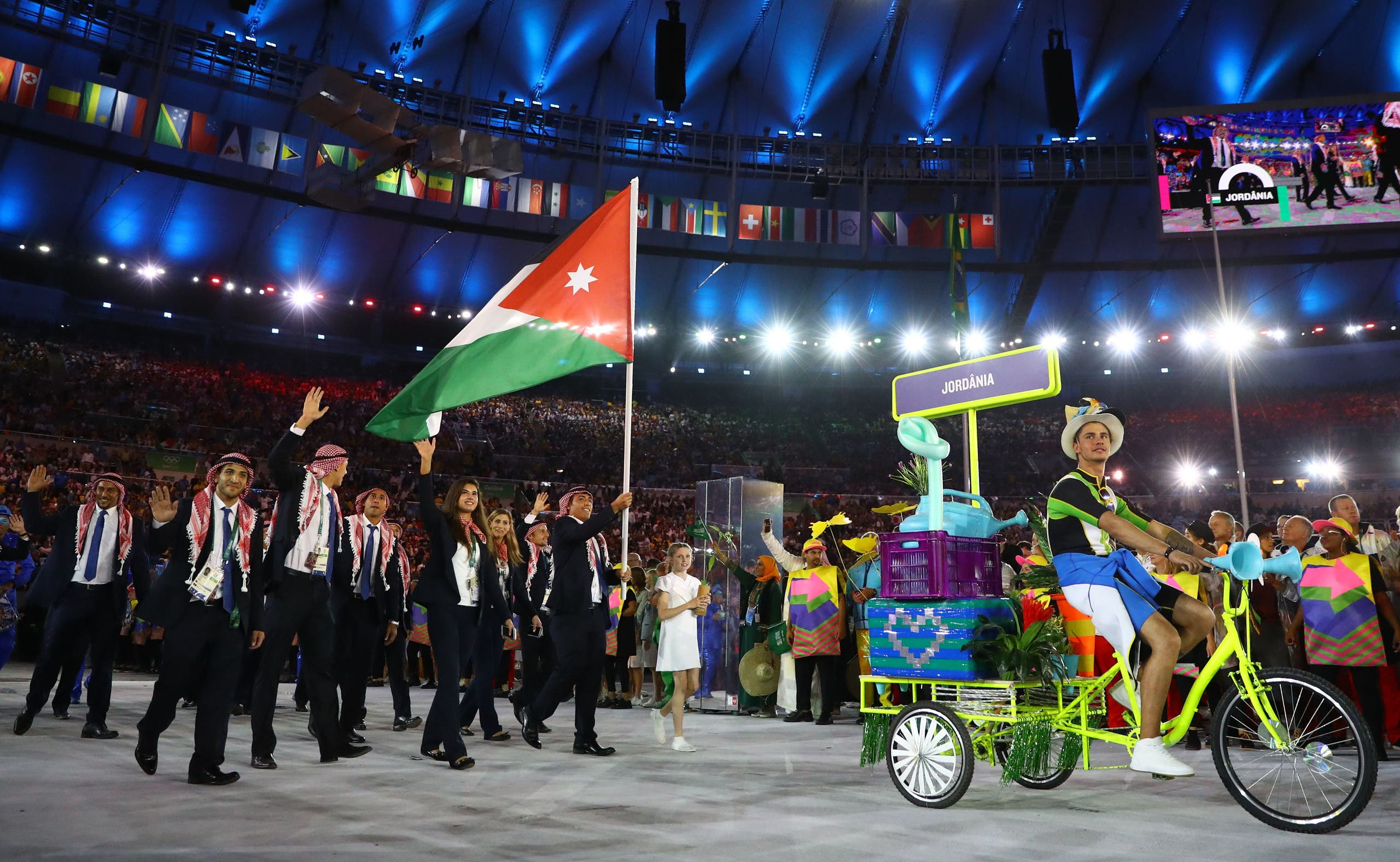 Arab states fly their flags at Rio opening 2016