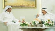 Saudi King Salman meets with Qatari Emir