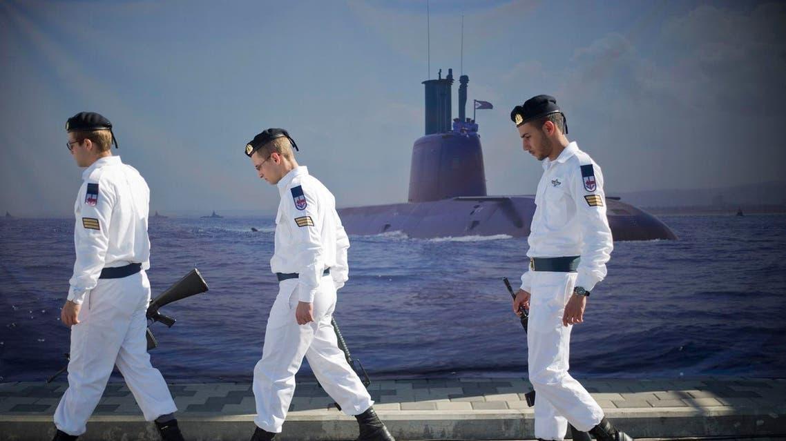 Israeli naval soldiers AP