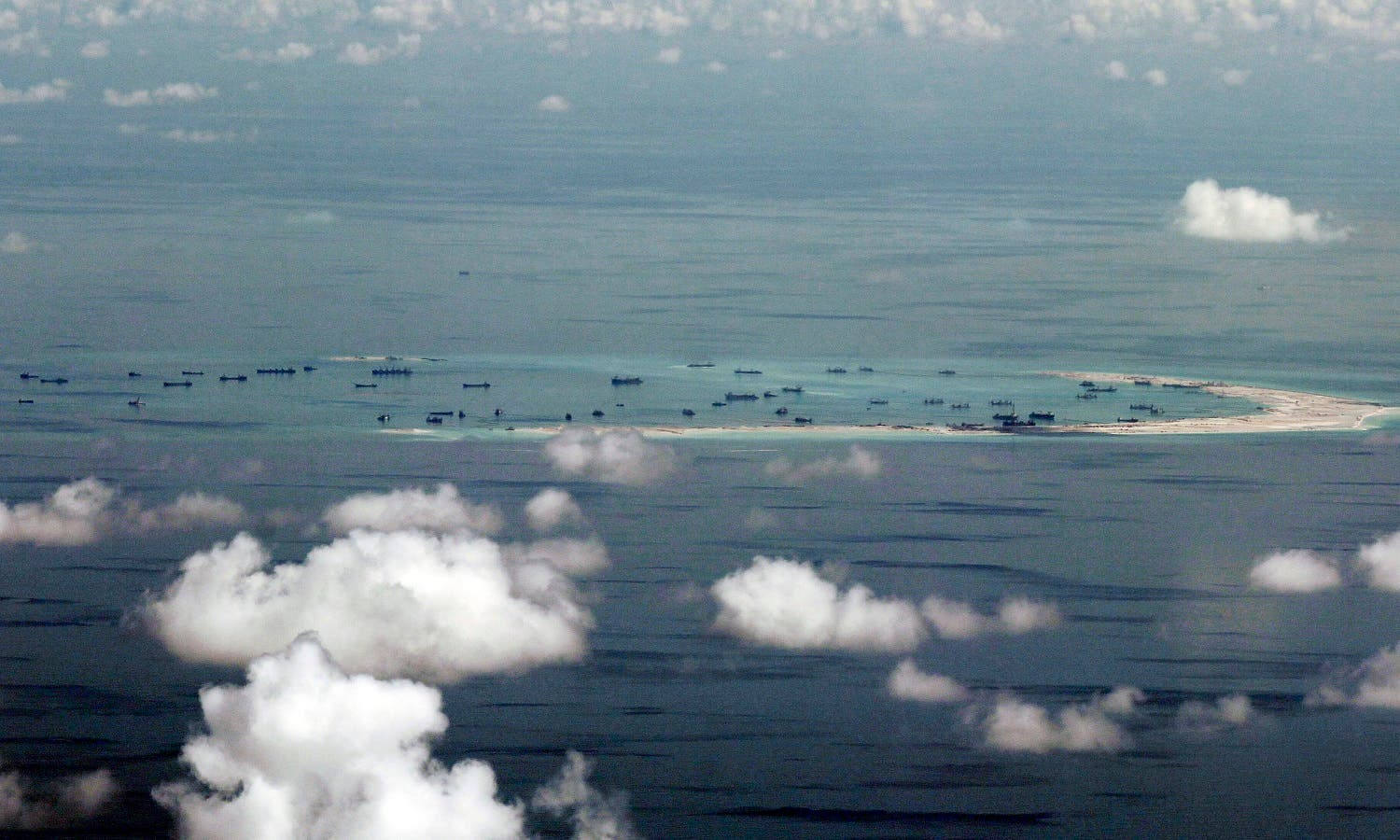 land reclamation of Mischief Reef in the Spratly Islands in the South China Sea. (AP)
