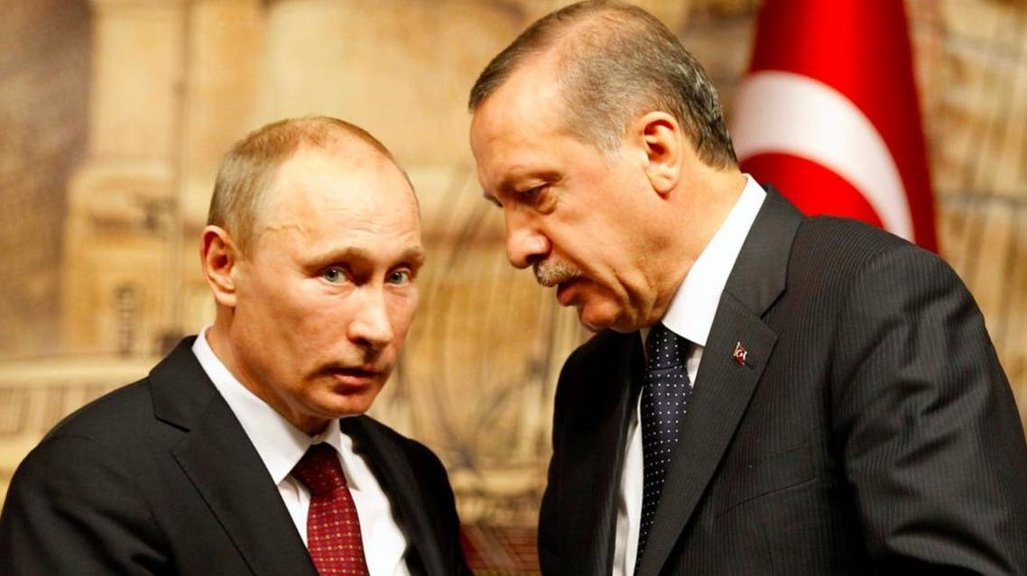 Russia's President Vladimir Putin (L) talks with Turkey's then-Prime Minister Tayyip Erdogan after their news conference in Istanbul December 3, 2012. (Reuters)
