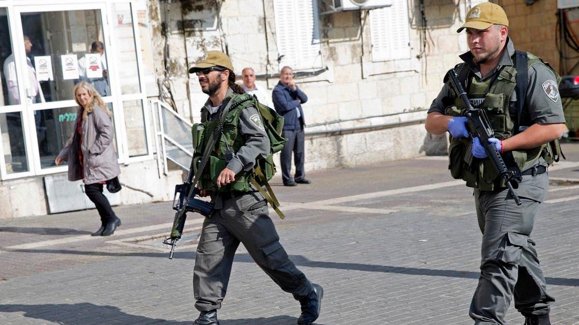 Israeli police officers AP
