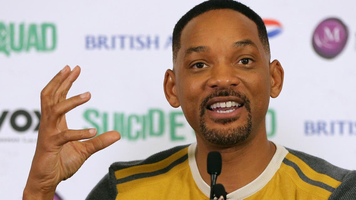 Will Smith speaks at a press conference in Dubai, United Arab Emirates, on Sunday, Aug. 7, 2016. AP