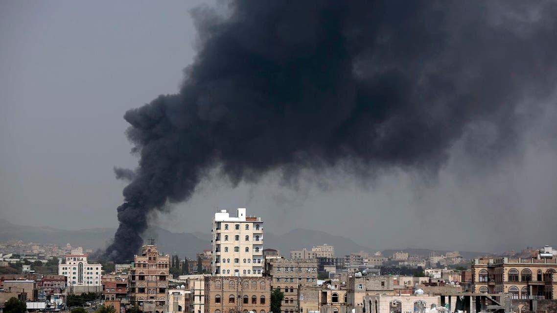 Airstrikes in Yemen AP