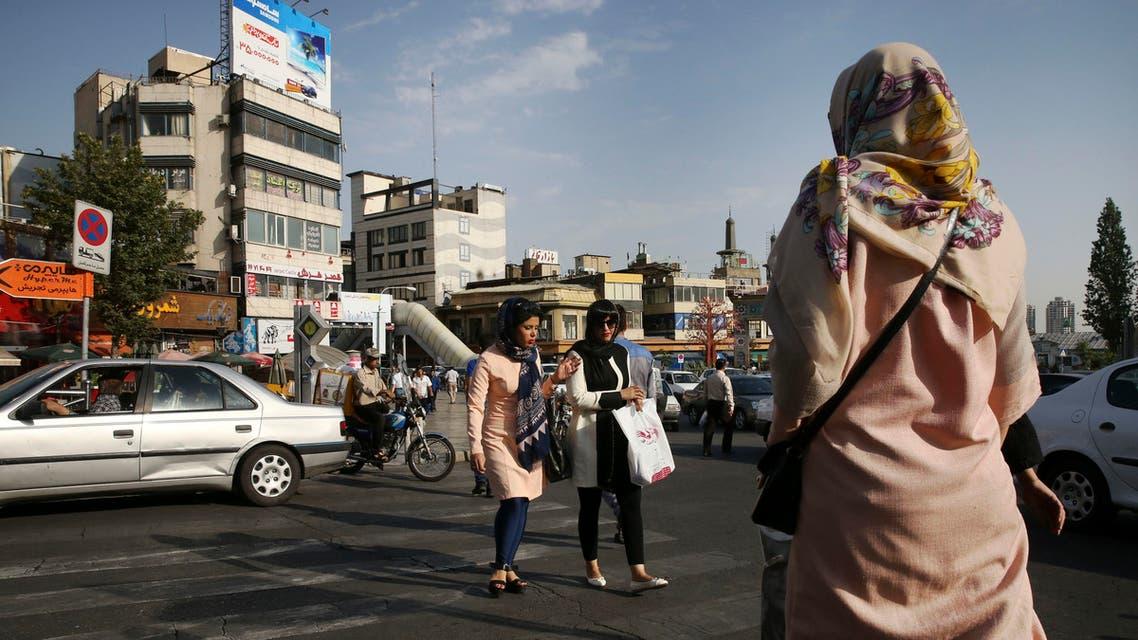 A street in northern Tehran, Iran.