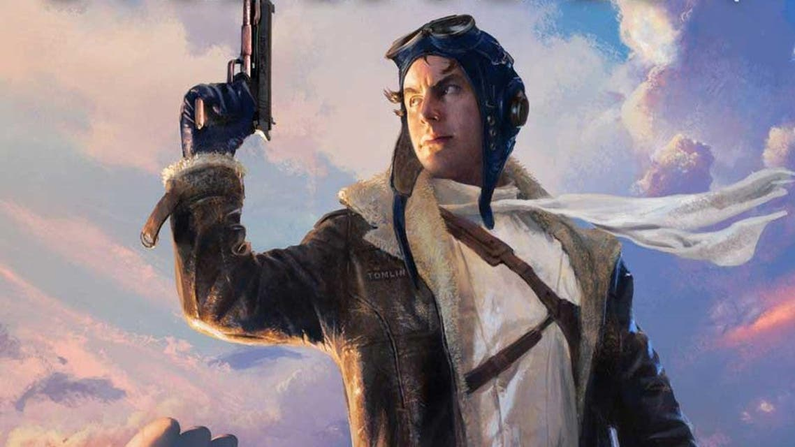 Book image cover depicts Jetboy charachter from George RR Martin's Wild Cards first book. (Photo courtesy: Tor Books)