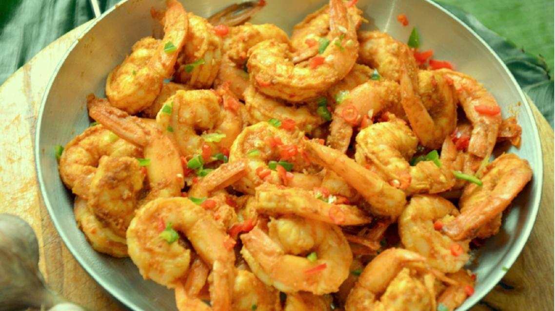 Tumtumta Jhinga - Spicy Prawns Photo courtesy Sheriar Hirjikaka