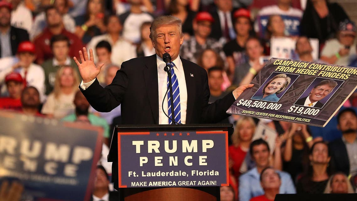 The Republican presidential nominee also referred to the president by his full legal name: Barack Hussein Obama. (AFP)