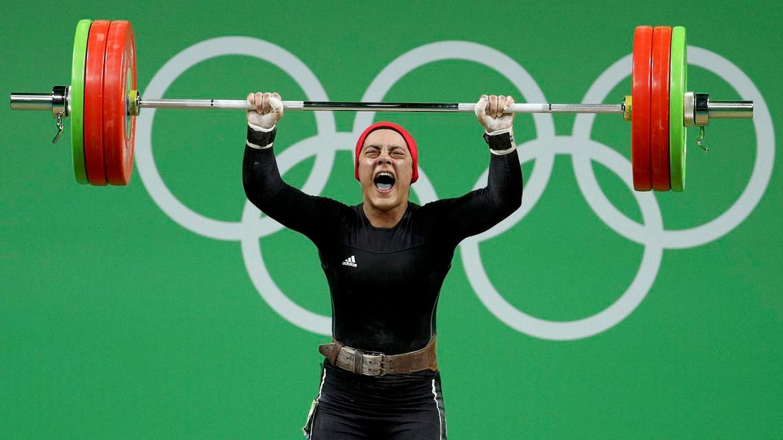 sarah ahmad egypt weightlifter reuters