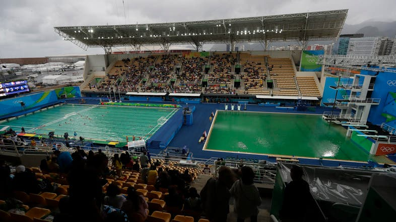 Green swimming pools cause ripples confusion at rio - How many olympic sized swimming pools in uk ...