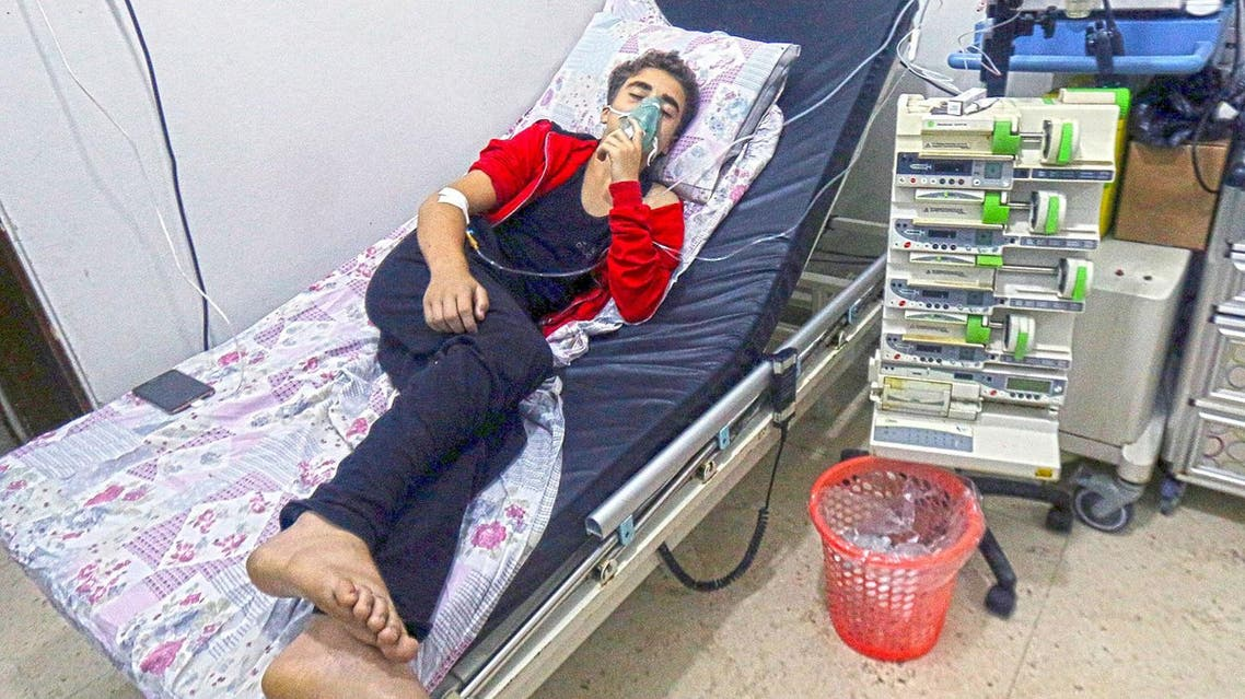 A civilian breathes through an oxygen mask at al-Quds hospital, after a hospital and a civil defence group said a gas, what they believed to be chlorine, was dropped alongside barrel bombs on a neighbourhood of the Syrian city of Aleppo. (Reuters)