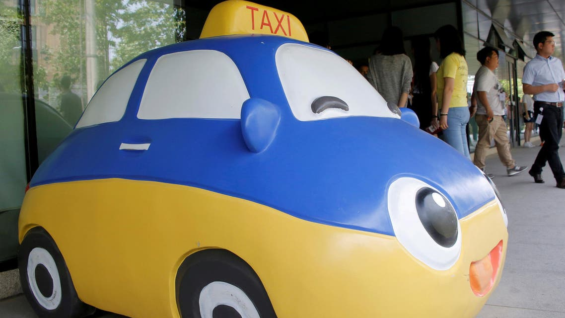 A mascot of Didi Chuxing is seen at the company's headquarters in Beijing, China, May 18, 2016. (Reuters)