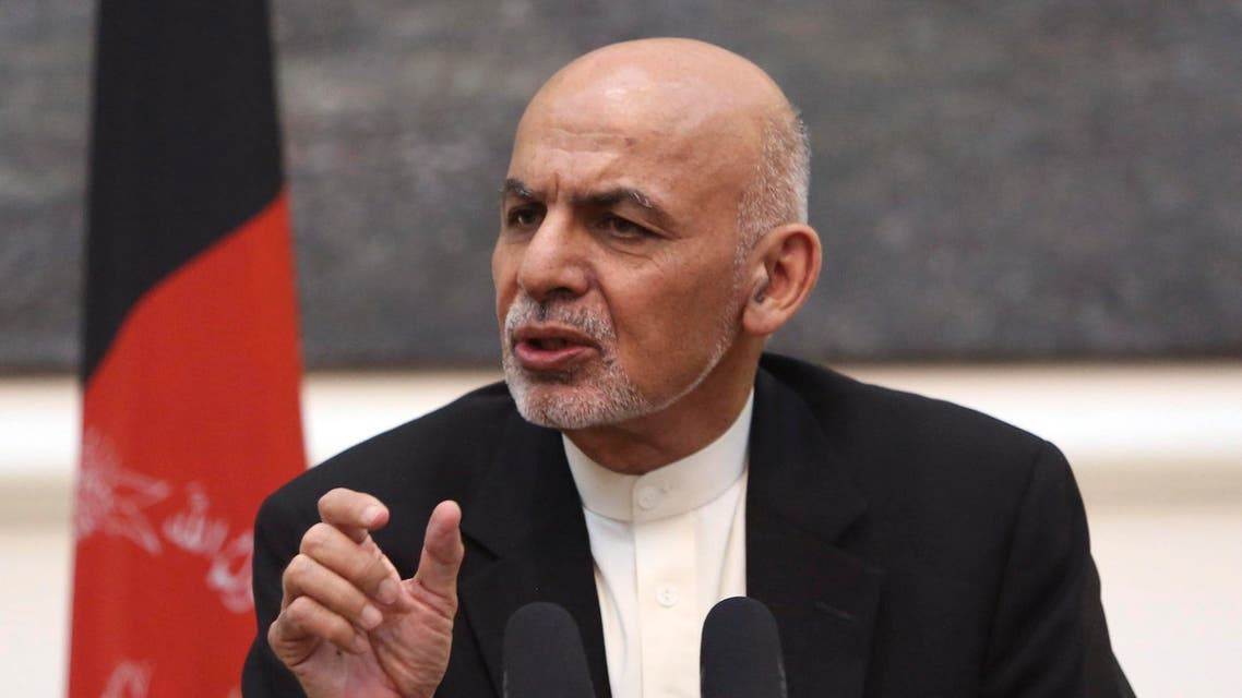 In this Tuesday, July 12, 2016 photo, Afghan President Ashraf Ghani speaks during a joint press conference with U.S. Secretary of Defense Ash Carter at the Presidential Palace in Kabul, Afghanistan. (AFP)