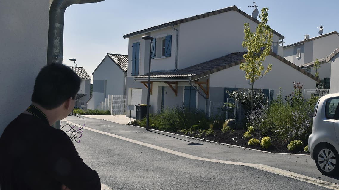 A picture taken on August 10, 2016 in Pechbonnieu, near Toulouse, southwestern France, shows a house where a 21-year-old man was arrested in connection with the killing of a priest in a Normandy church on July 26. (AFP)