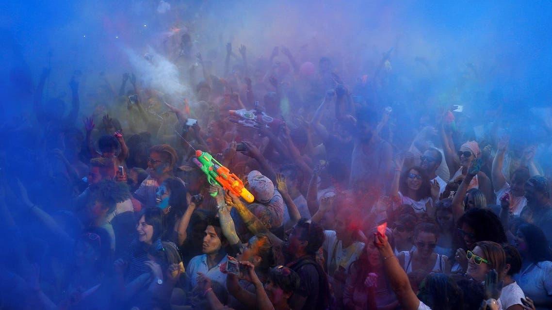 Revellers take part in the Monsoon Holi Madrid festival in Madrid, Spain, August 13, 2016. (Photo: REUTERS/Javier Barbancho)