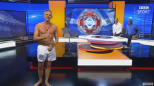 Gary Lineker keeps promise by baring almost all on TV