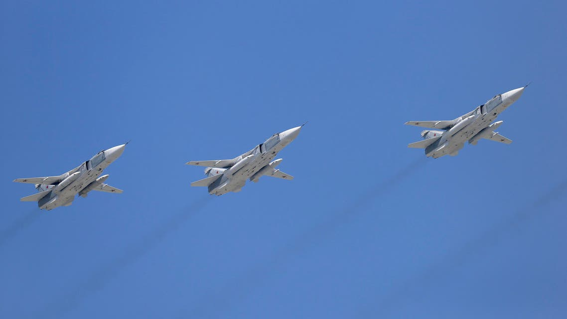 Tupolev Tu-22M3 Backfire strategic bombers fly in formation over the Red Square during the Victory Day parade in Moscow, Russia, May 9, 2015. Russia marks the 70th anniversary of the end of World War Two in Europe on Saturday with a military parade, showcasing new military hardware at a time when relations with the West have hit lows not seen since the Cold War. REUTERS