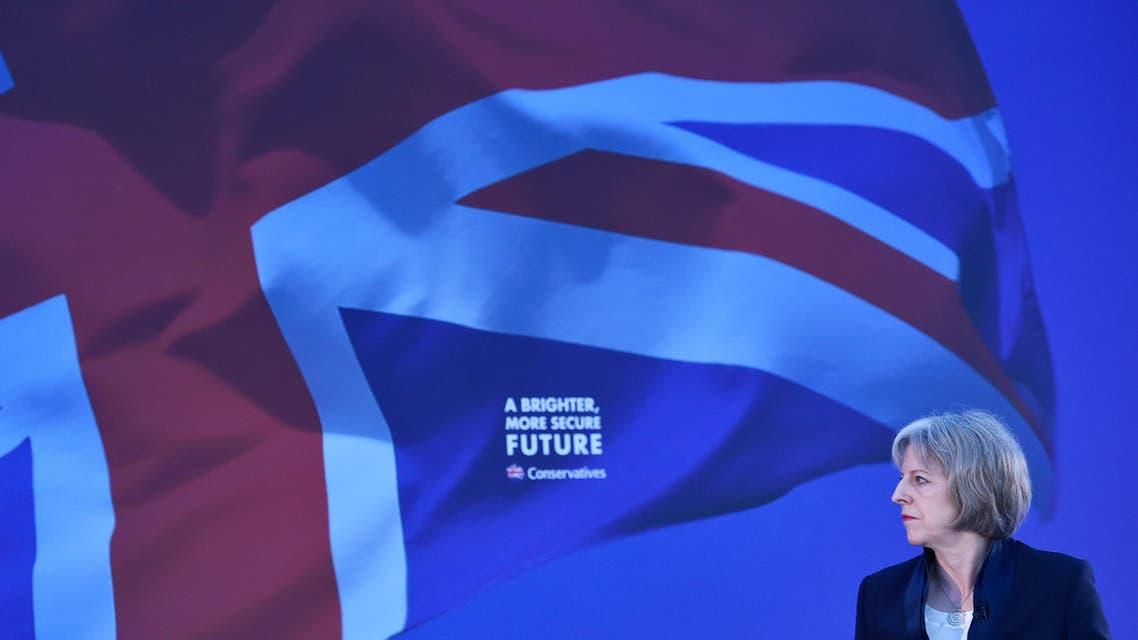 Theresa May at Polan conference. (Reuters)