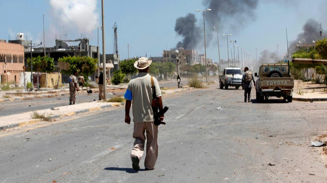 Smoke rises during a battle between Libyan forces allied with the UN-backed government and ISIS in neighborhood Number Two in Sirte, Libya Aug. 16, 2016 (Photo: Reuters/Ismail Zitouny)