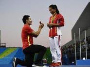 """أولمبياد ريو.. قصة حب تتوج بـ""""الخطوبة"""" على المنصة"""