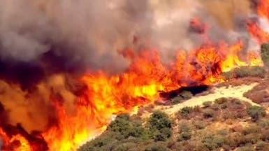 كاليفورنيا.. إجلاء سكان بسبب حرائق الغابات