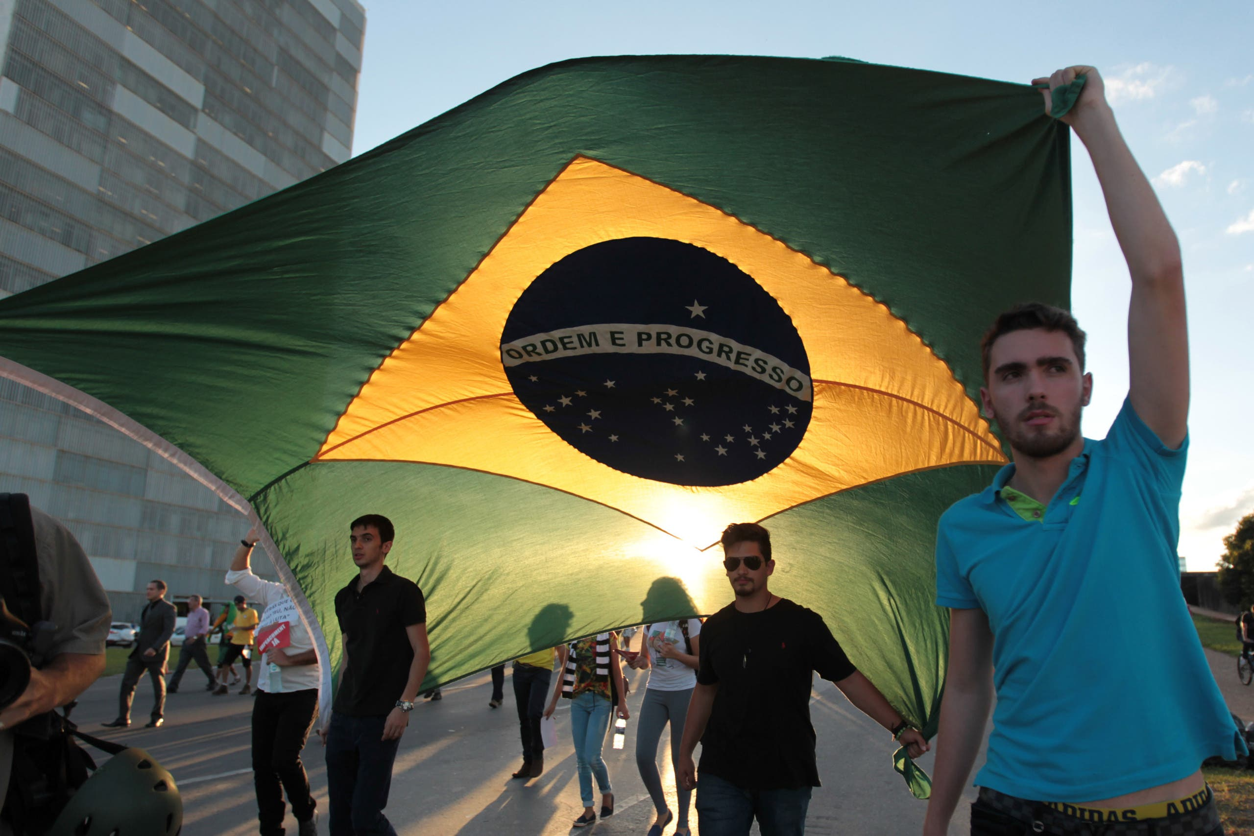 Protest for Brazil President's impeachment. (AP)